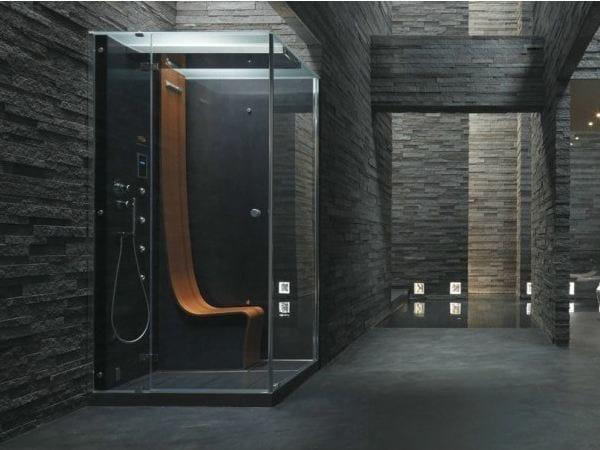 Box doccia multifunzione rettangolare con bagno turco ΩMEGA - Jacuzzi