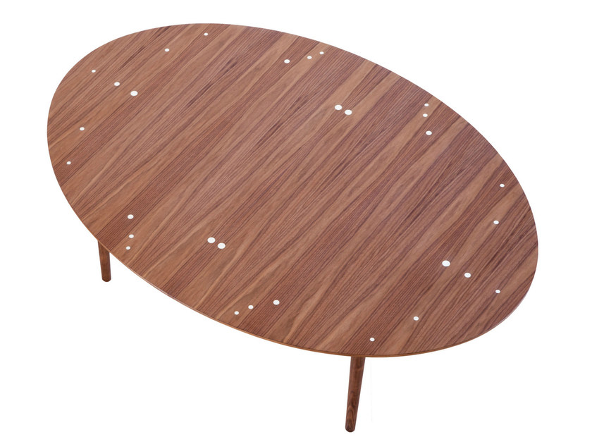 Oval wooden table SILVER - Onecollection