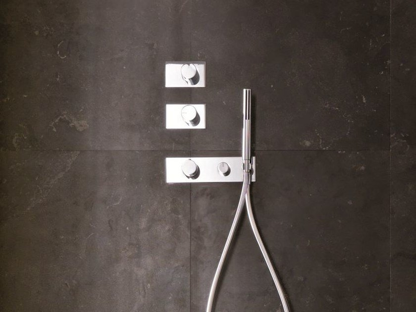 Thermostatic shower mixer with hand shower ACQUA ZONE | Thermostatic shower mixer - Fantini Rubinetti