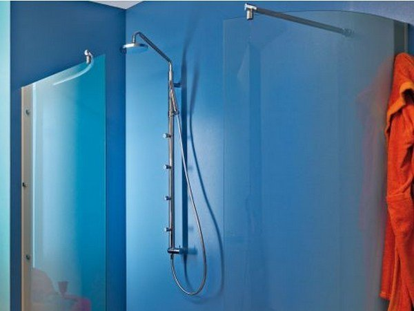 Multifunction shower panel with hand shower NUDA - Jacuzzi Europe