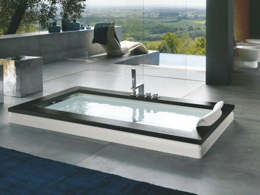 rectangular built in bathtub aura uno design by jacuzzi. Black Bedroom Furniture Sets. Home Design Ideas