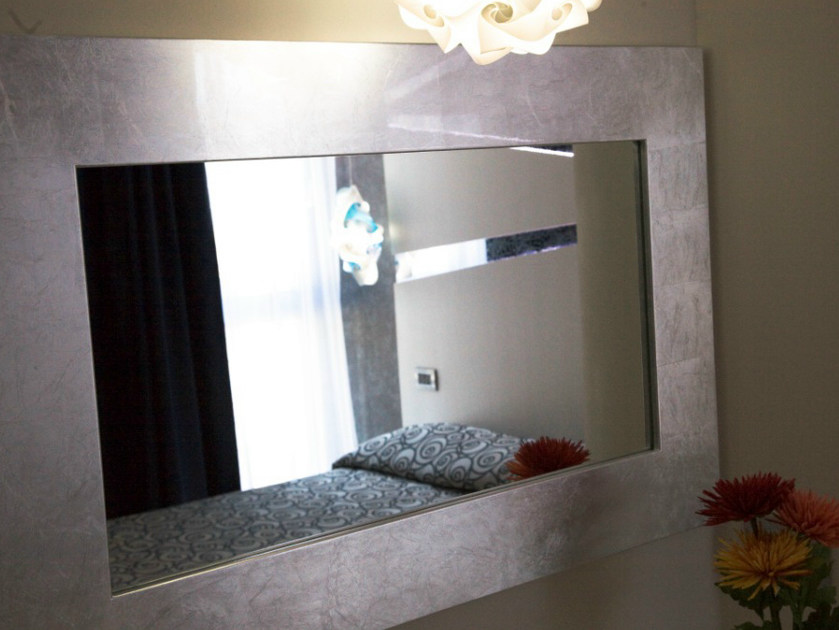 Espejo Marco Plateado. Best Espejo Decorativo Lieja Blanco Plata Xcm ...