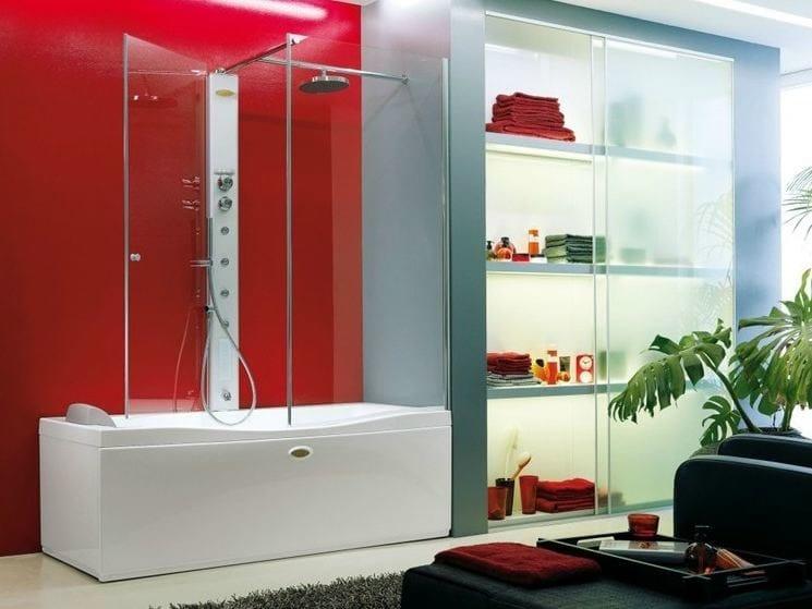 Rectangular bathtub with shower LINK - Jacuzzi Europe