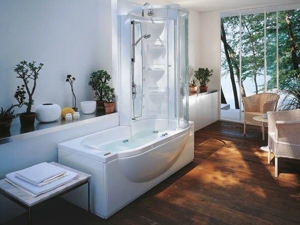 Vasca da bagno idromassaggio con doccia amea twin premium - Vasche da bagno con box doccia incorporato ...