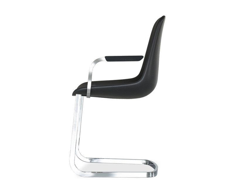 Cantilever chair with armrests STEP | Chair with armrests - Tonon