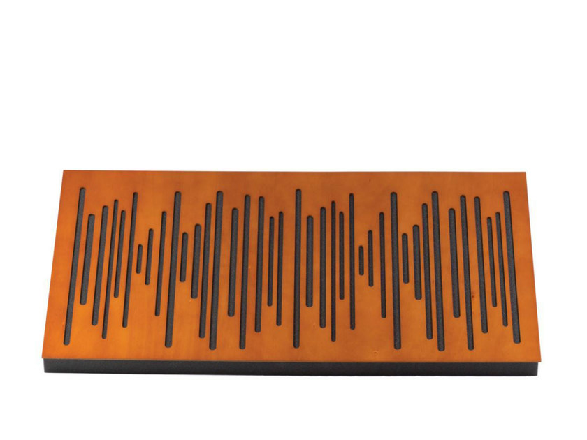 Wood-product decorative acoustical panel WAVEWOOD PRO 120 by Vicoustic by Exhibo