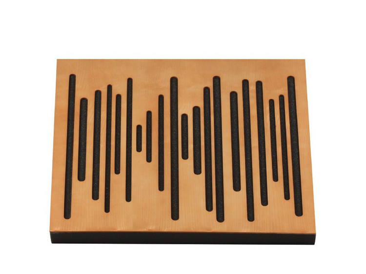 Wood-product decorative acoustical panels WAVEWOOD PRO 60 - Vicoustic by Exhibo