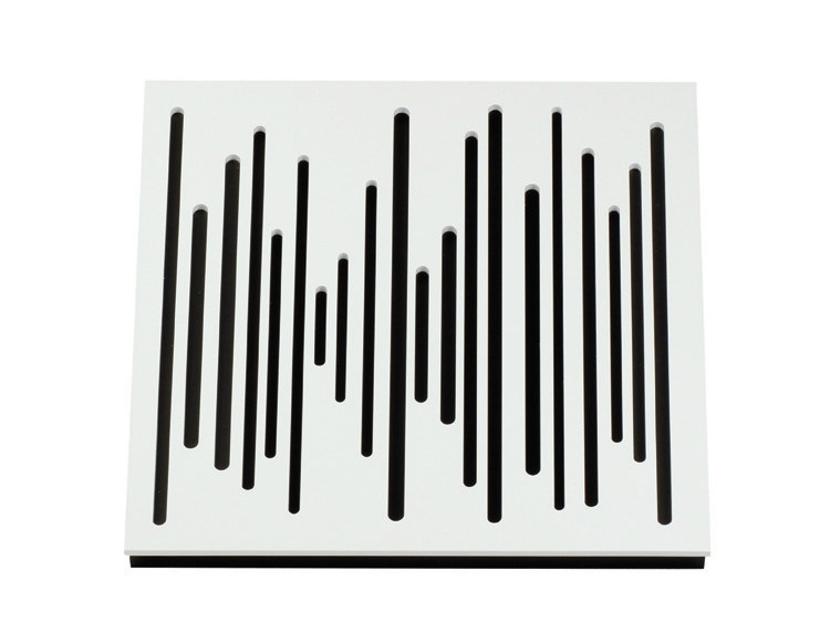 Wood-product decorative acoustical panels WAVEWOOD DIFFUSER 60 - Vicoustic by Exhibo