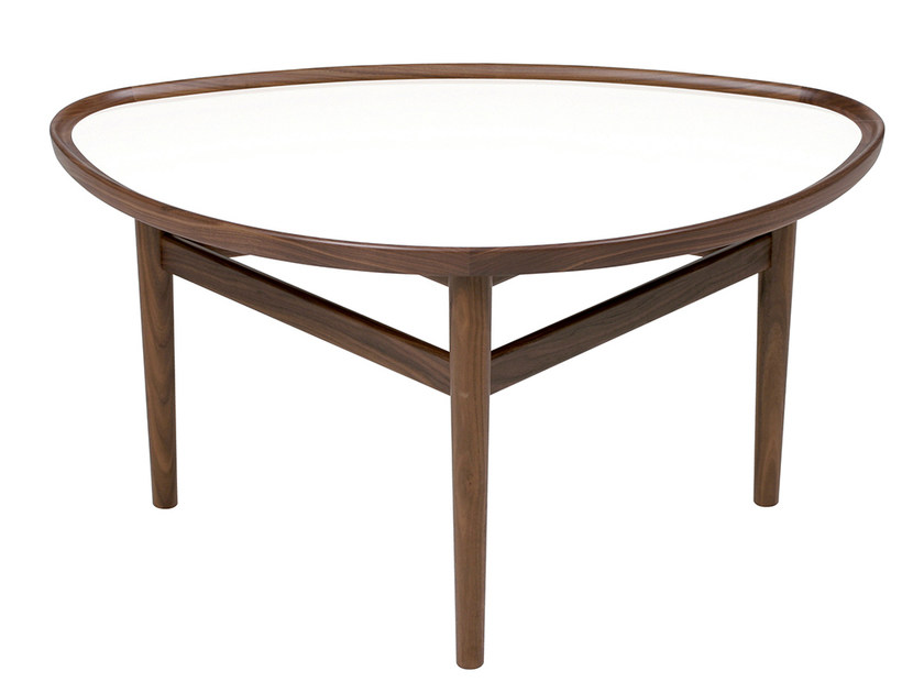 Low wooden coffee table EYE - Onecollection