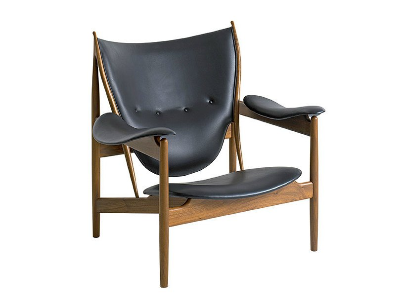 Upholstered leather easy chair CHIEFTAIN | Easy chair - Onecollection