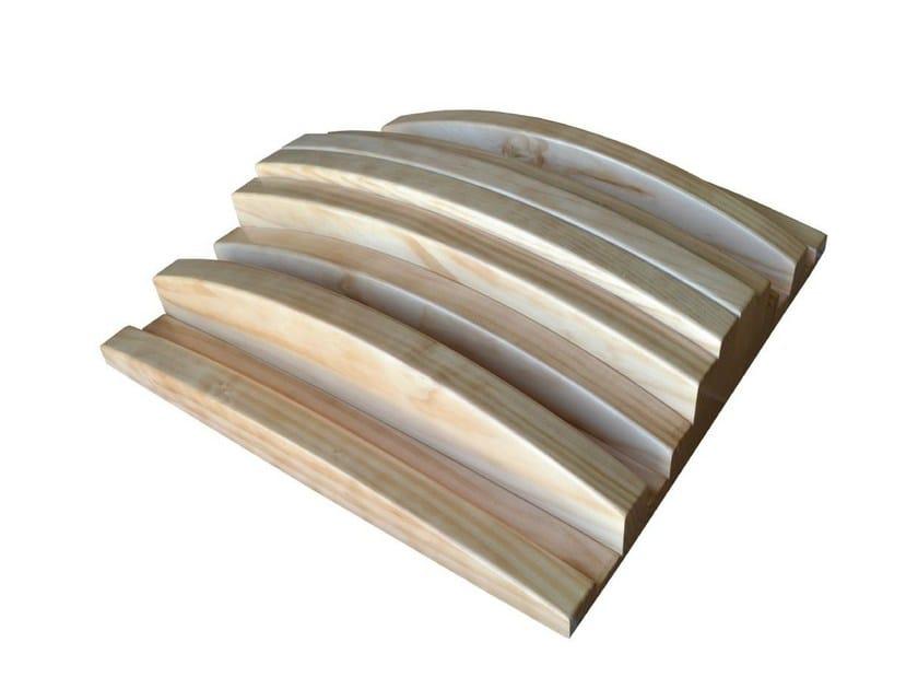Wooden decorative acoustical panels POLY FUSER QR - Vicoustic by Exhibo