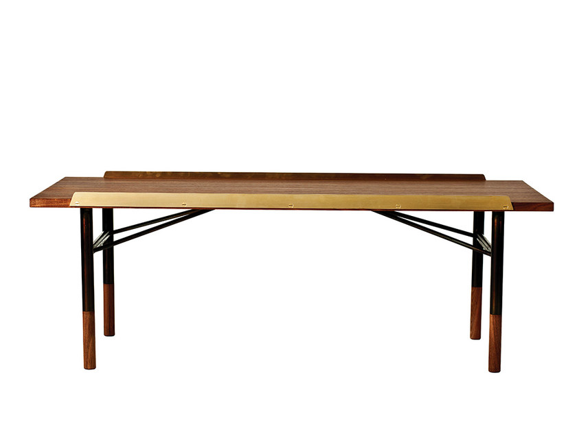 Low rectangular wooden coffee table FJ | Coffee table - Onecollection