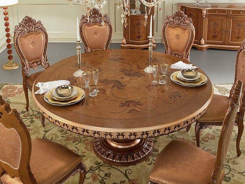 Tavolo da salotto rotondo in stile barocco 13142 for Tavolo rotondo barocco