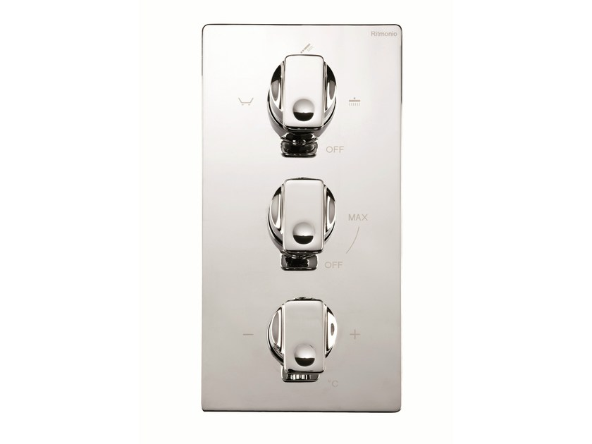 3 hole thermostatic shower mixer NASTRO | 3 hole thermostatic shower mixer - RUBINETTERIE RITMONIO