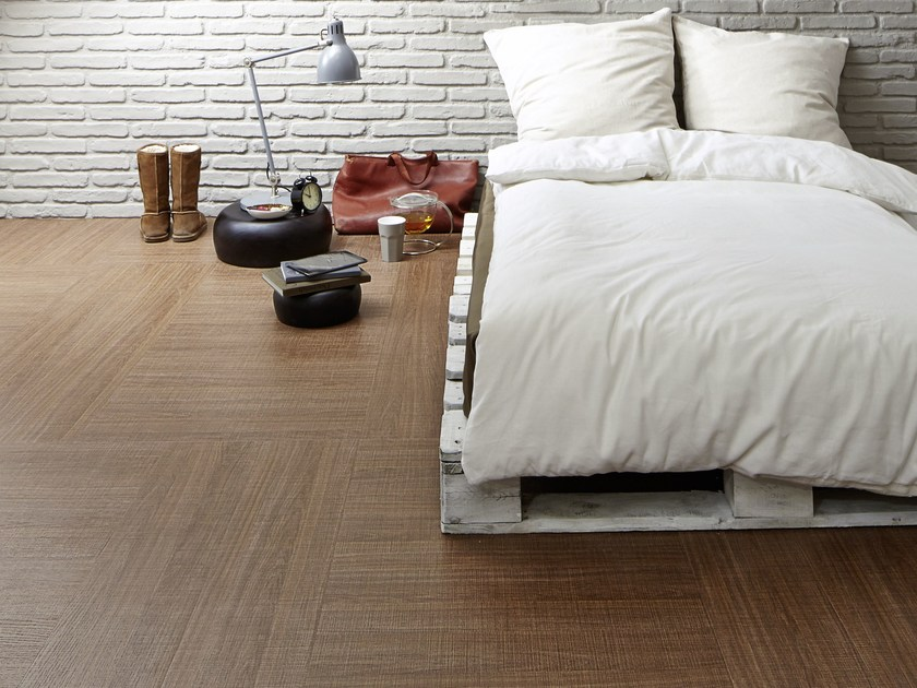 Ecological flooring with wood effect ROUGH - Vorwerk & Co. Teppichwerke
