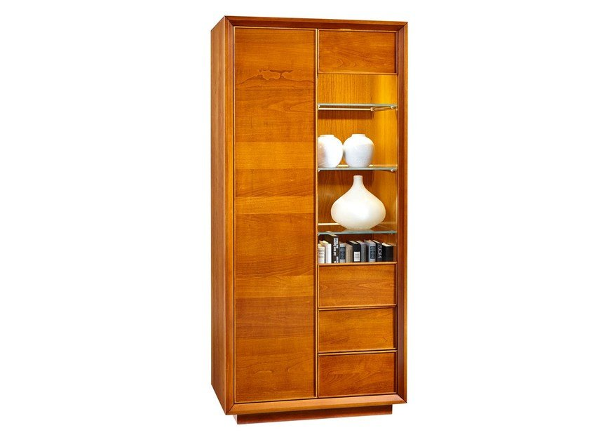 Wooden display cabinet GRACE | Display cabinet - SELVA