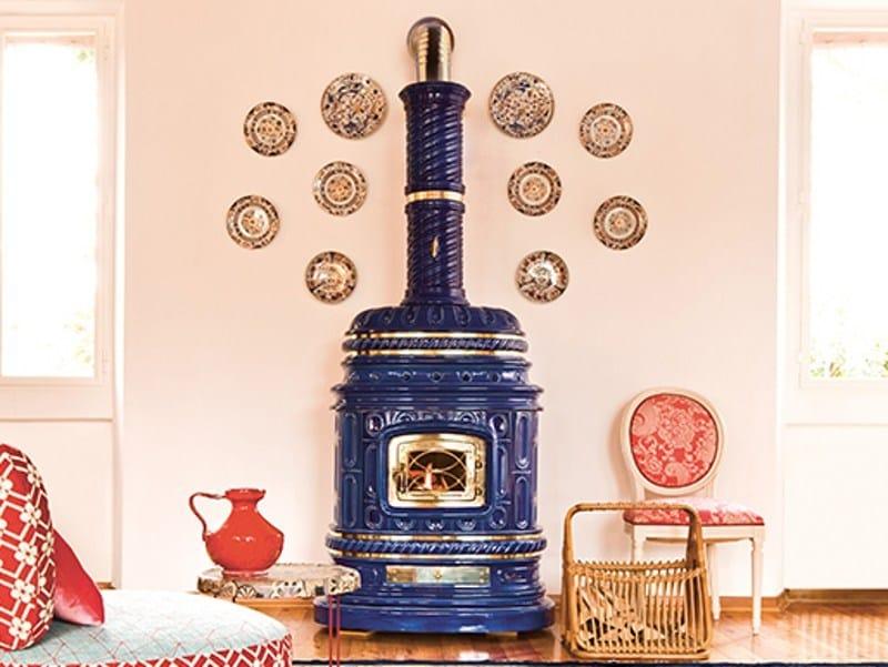 Stufa a legna in ceramica ad accumulo corsara sergio leoni - Stufa ad accumulo prezzi ...