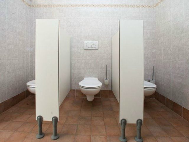 Partition/front without door Toilet partition for children - GES Group