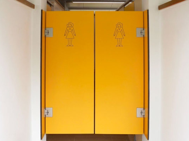 Hinged HPL door COMFORT by GES Group