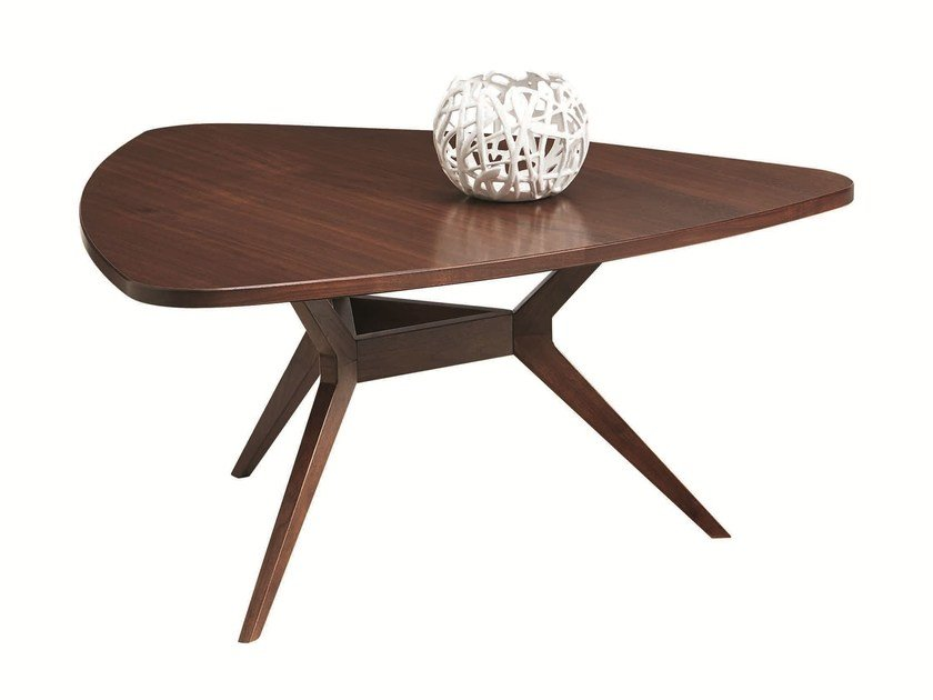Walnut coffee table LEONARDO | Coffee table for living room - SELVA