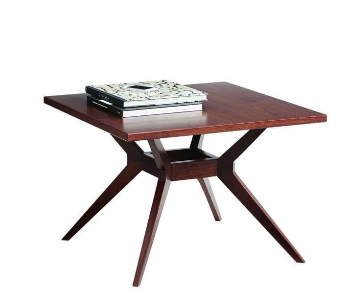 Walnut side table LEONARDO | Side table - SELVA