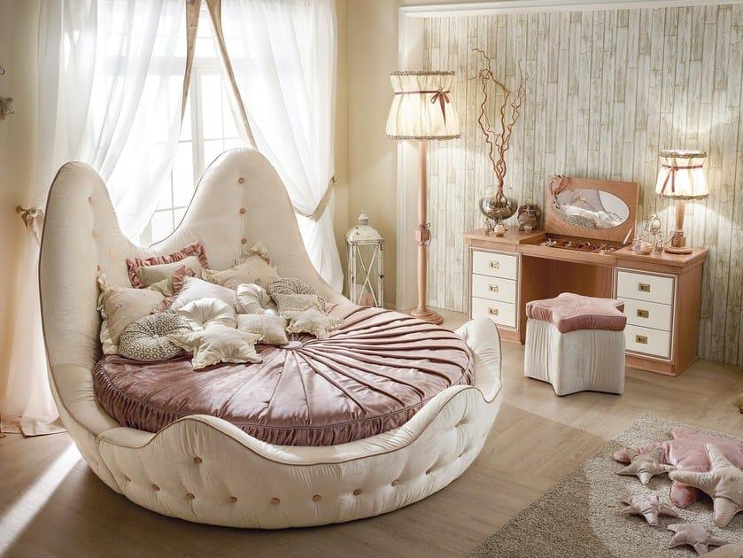 Round bed with tufted headboard 543 | STELLA MARINA by Caroti