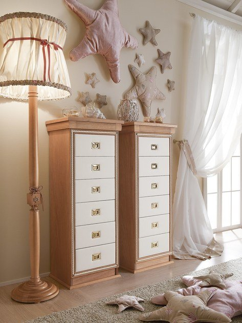 Free standing kids chest of drawers CORDAGE | Chest of drawers - Caroti