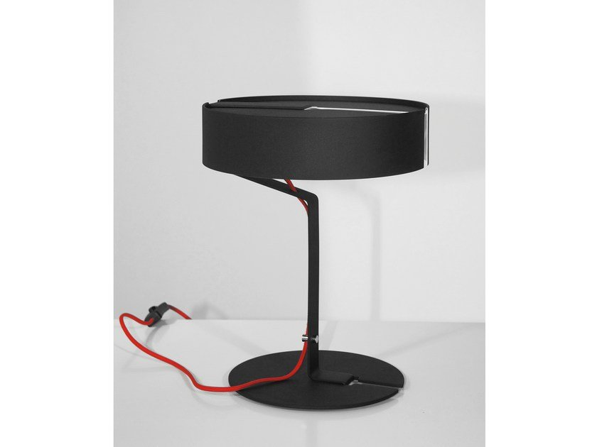Fluorescent steel desk lamp BARBARELLA by Marzais Créations