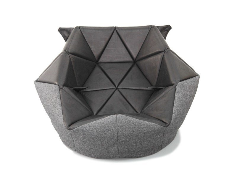 pouf poire rembourr en cuir marie by freifrau design antoinette bader. Black Bedroom Furniture Sets. Home Design Ideas