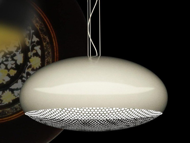 Direct light aluminium pendant lamp MOON - Marzais Créations