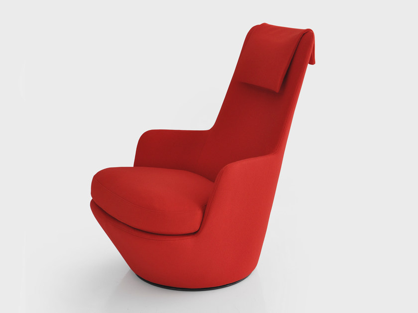 High-back swivel armchair HI TURN - BENSEN