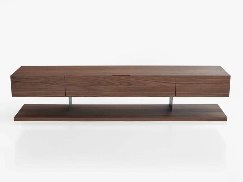 Low wooden TV cabinet STANDARD | Wooden TV cabinet - BENSEN