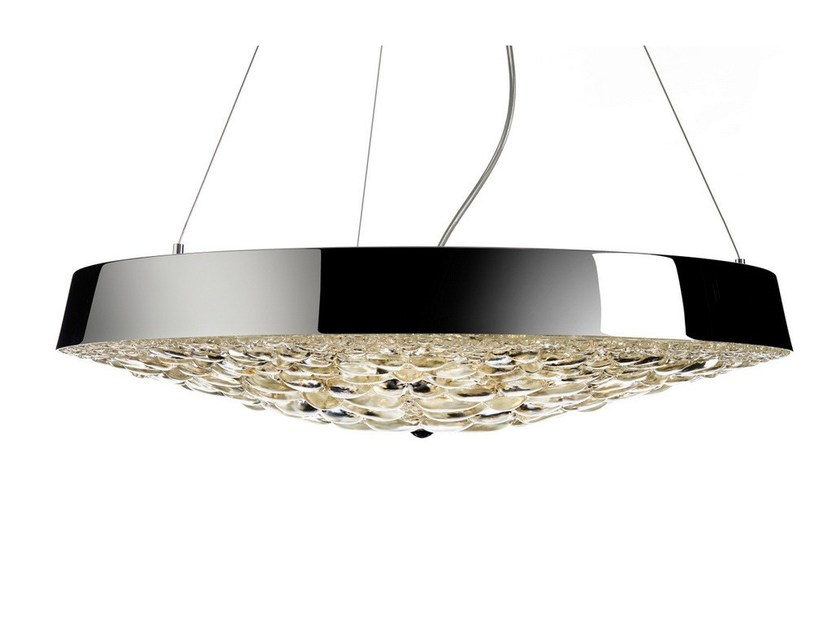LED direct light crystal pendant lamp VALENTINE FLAT by moooi