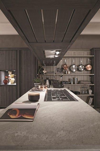 Cucina in abete ardesia con penisola maestrale 02 - Cucine in abete ...