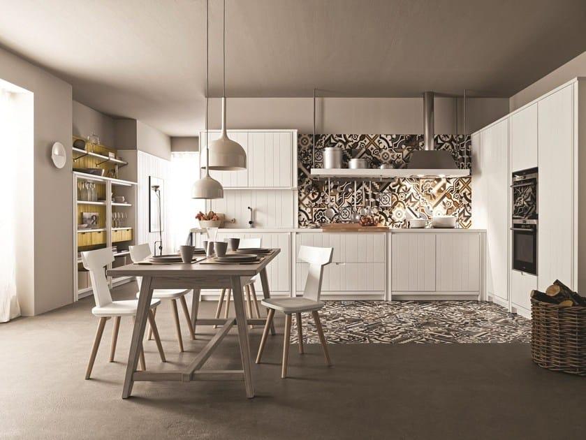 Linear spruce kitchen MAESTRALE 04 - Scandola Mobili