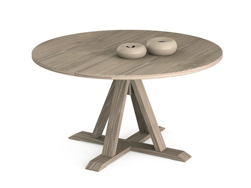 Round wooden table MAESTRALE | Round table - Scandola Mobili