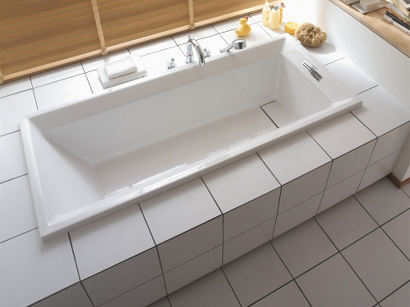 Rectangular acrylic bathtub 2ND FLOOR | Acrylic bathtub - DURAVIT