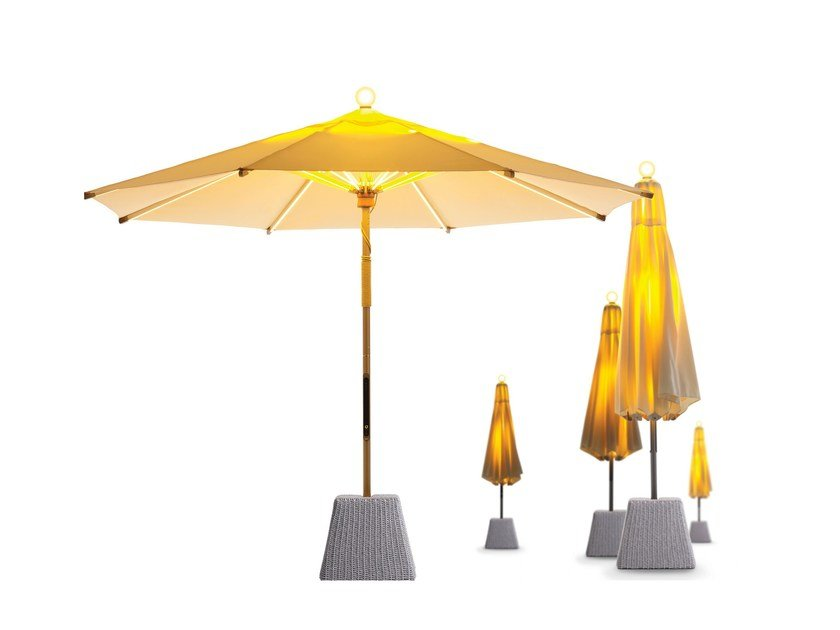 Garden umbrella with built-in lights NI Parasol by FOXCAT