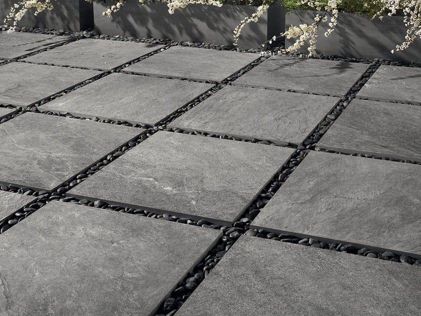 Pavimento per esterni in gres porcellanato a tutta massa - Piastrelle effetto pietra per esterno prezzi ...