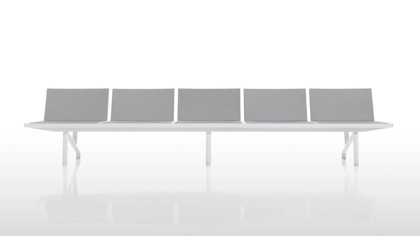 Upholstered bench seating with back AARHUS - Inclass Mobles