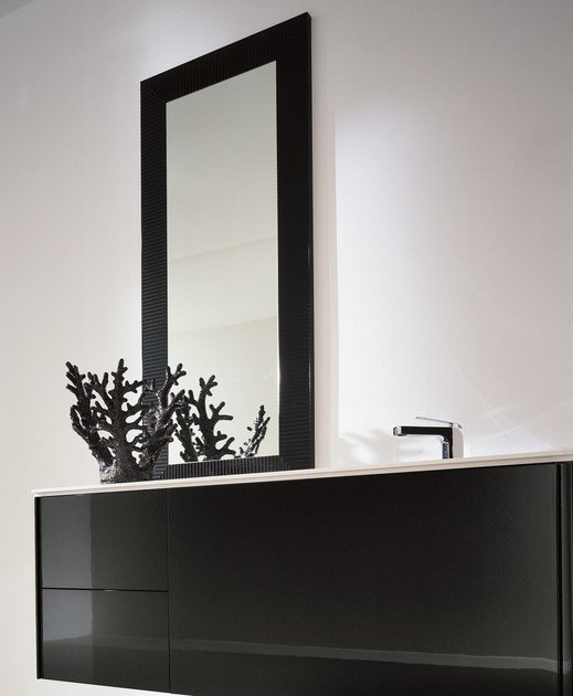 Lacquered single wall-mounted vanity unit MAX - COMPOSITION X02D - NOVELLO