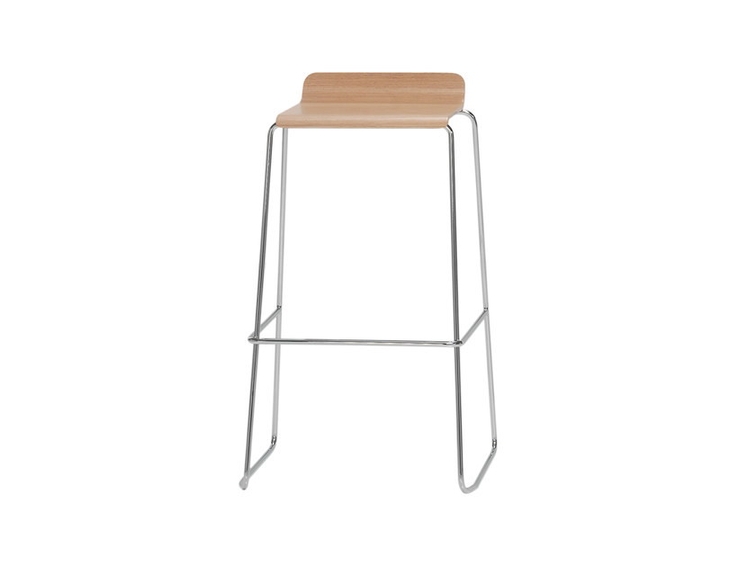 High wooden stool GINGER | High stool - Inclass Mobles