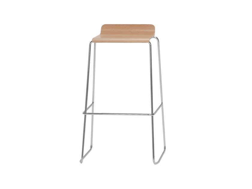 High wooden stool GINGER | High stool by Inclass Mobles