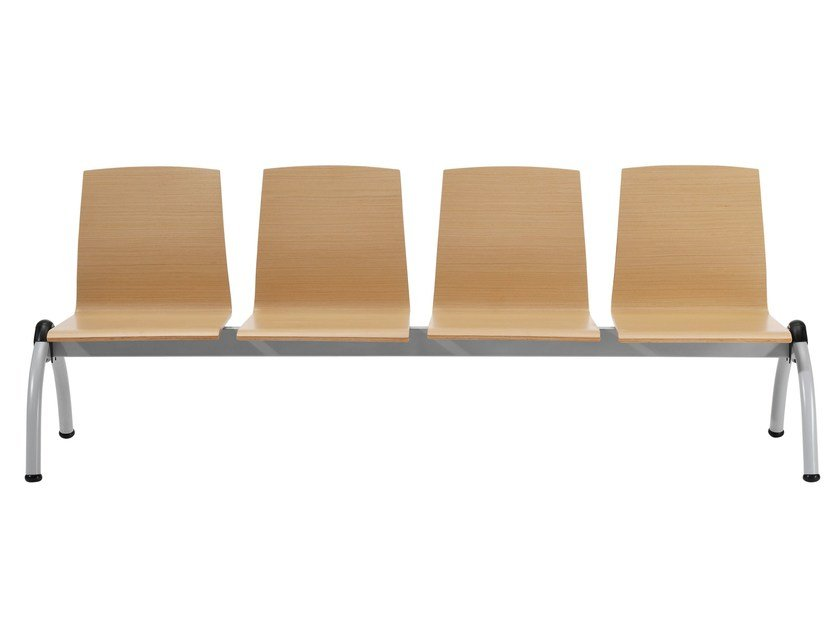 Wooden bench seating with back GINGER | Bench seating - Inclass Mobles