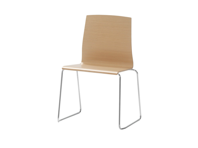 Sled base wooden chair GINGER | Sled base chair - Inclass Mobles