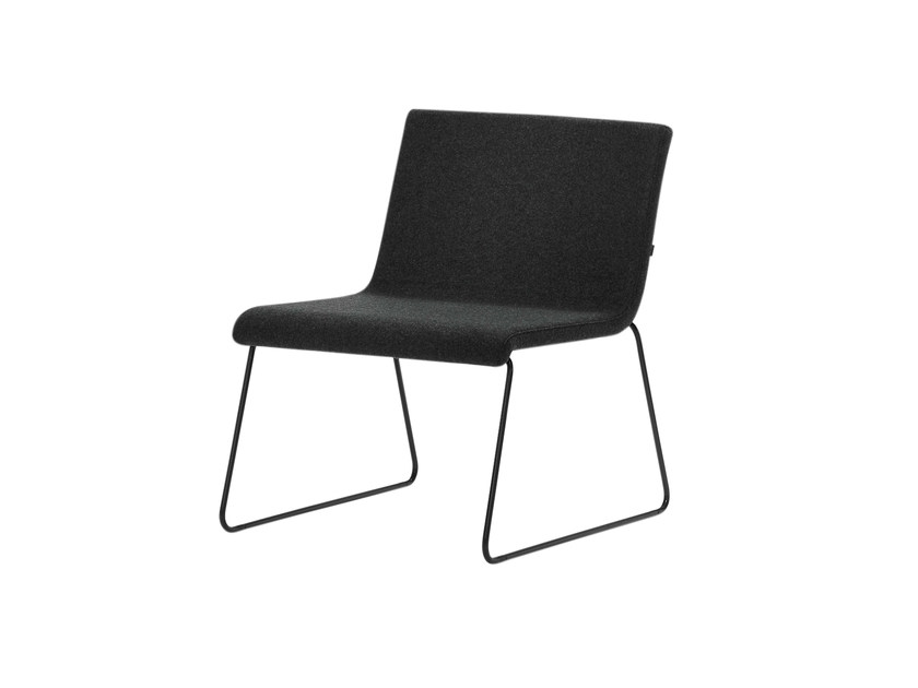 Sled base upholstered fabric easy chair ETNIA | Sled base easy chair by Inclass Mobles