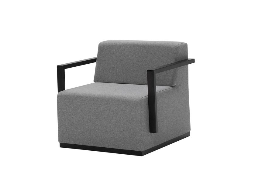 Upholstered fabric armchair with armrests PAU | Armchair - Inclass Mobles