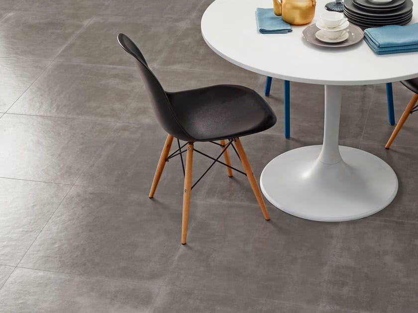 Glazed stoneware flooring with concrete effect GROUND | Flooring - Gres Panaria Portugal S.A. - Divisão Love Tiles