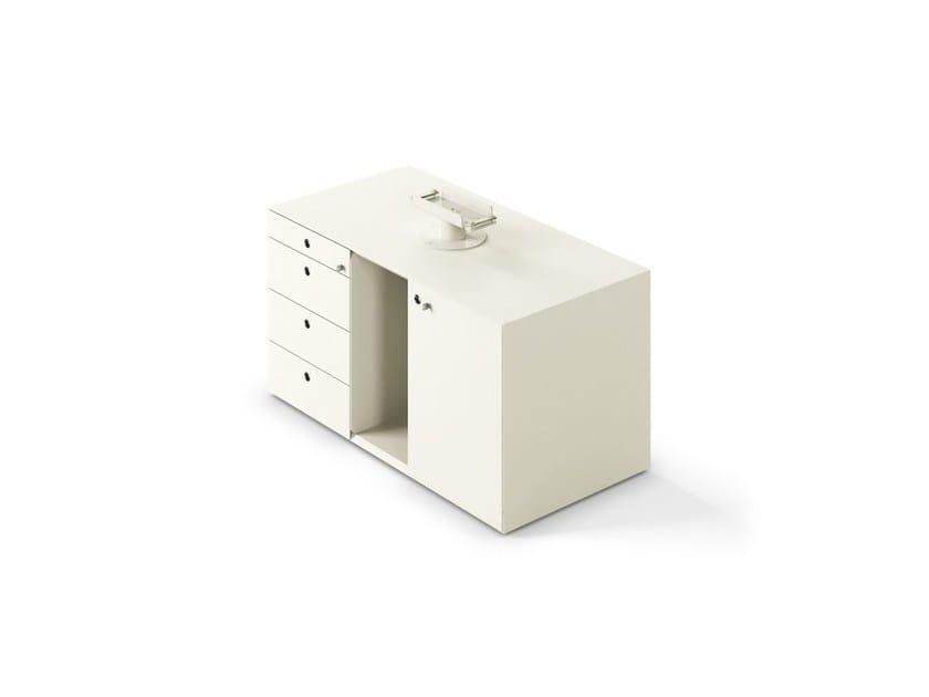 Low modular office storage unit MÈTA | Low office storage unit - FANTONI