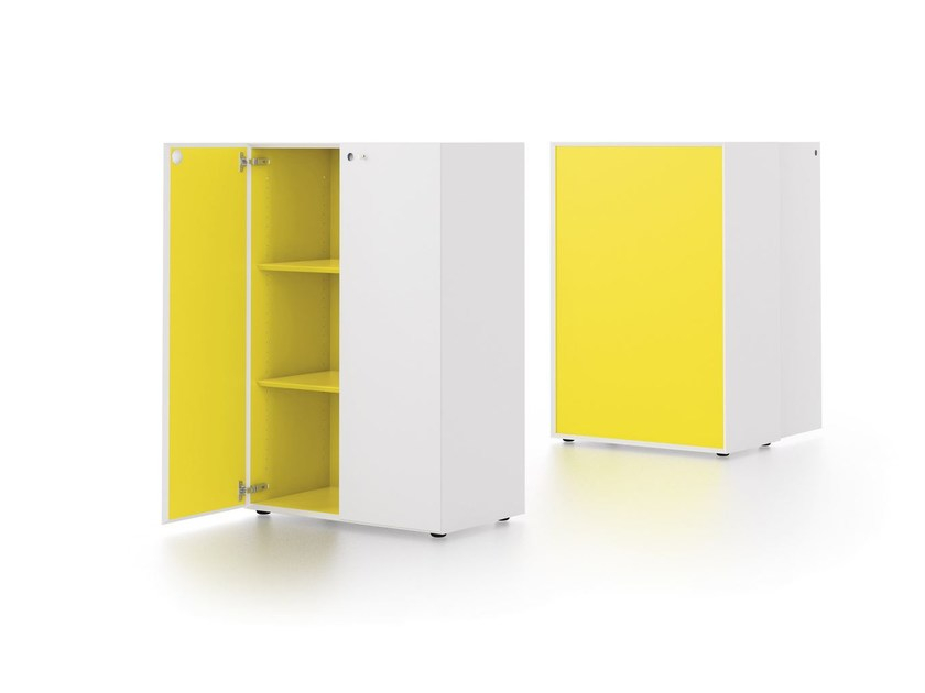 Modular office storage unit MÈTA | Office storage unit - FANTONI